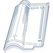 tuile de verre romane n 7 bis genre romane m ridionale 27x42 5 cm verrerie la rochere. Black Bedroom Furniture Sets. Home Design Ideas