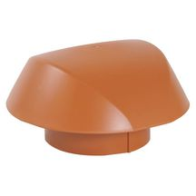 Chapeau de ventilation simple Atemax - VVS12T - terracotta - Ø 125 mm