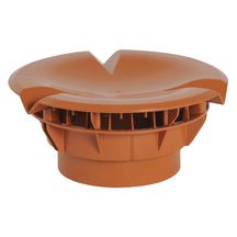 Chapeau aéraulique simple Atemax Aero - VXS16T - terracotta - Ø 160 mm