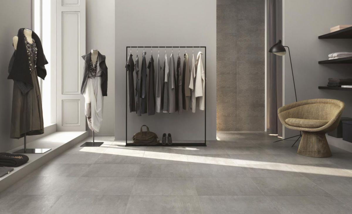 Carrelage Sol Intérieur Grès Cérame émaillé Concept Grigio   45x45 Cm