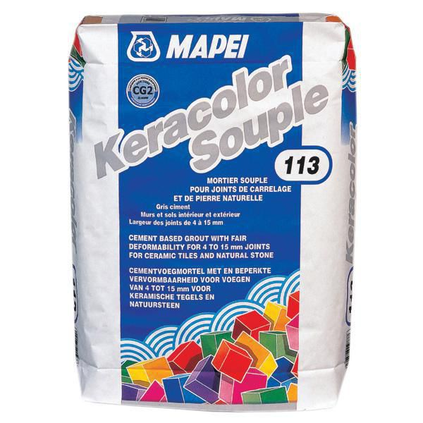 mapei mortier mapei keracolor gg souple n 113 gris pour joint de carrelage de 4 15mm sac de. Black Bedroom Furniture Sets. Home Design Ideas