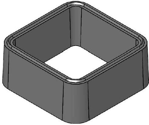 Alkern demi rehausse pour regard en b ton 50x50x20cm - Rehausse chambre de visite beton ...