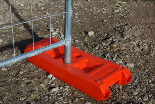 Heras Plot Plastique Beton Orange Heras 24 Kg Point P