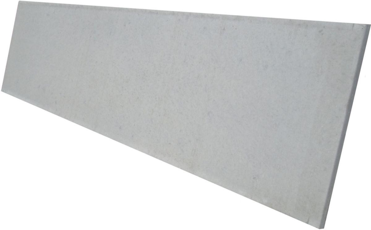mehat plaque de cl ture pleine b ton gris l 1 92 m 25x3 5 cm point p