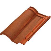 Tuile terre cuite terreal romane evolution 1rte brun rustique terreal toiture charpente for Tuile romane terreal