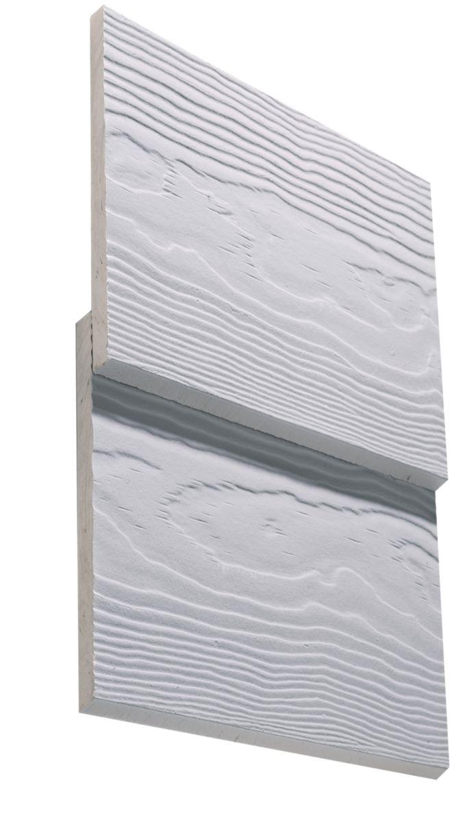 Bardage c dral lap classic fibre ciment eternit blanc everest for Bardage bois exterieur prix m2