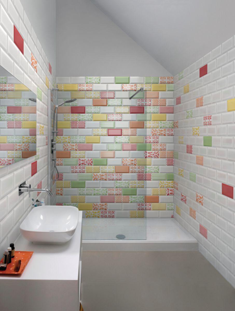 Bati orient import carrelage mural int rieur fa ence m tro ceve05 d cor arabesque vert 7 - Carreau metro cuisine ...