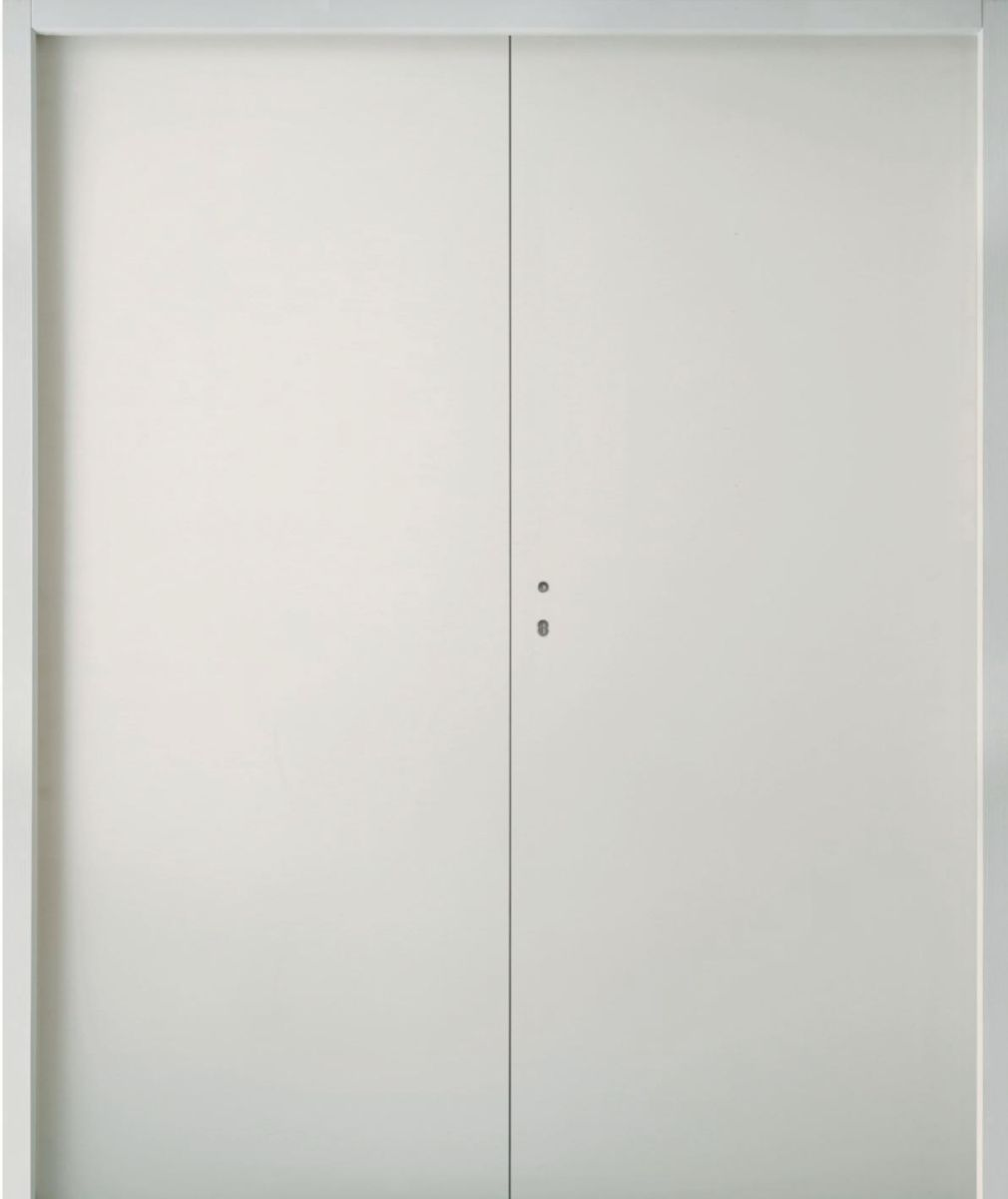 Bloc porte coupe feu 30 min ei30 huisserie perf 72 mm blanc jeld