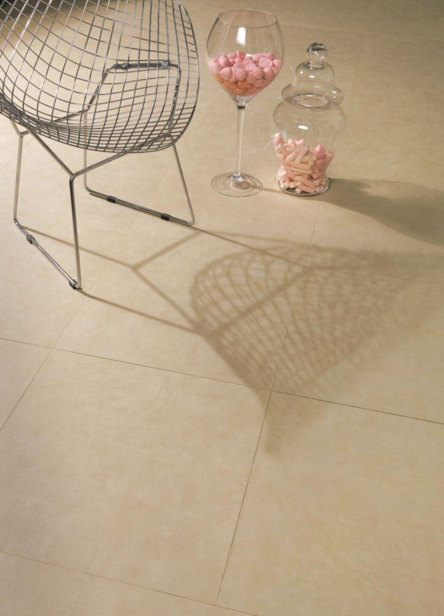 Carrelage sol intérieur grès cérame Living beige - 60x60 cm ...
