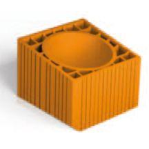 boisseau alv ol en terre cuite pour conduit de chemin e bo01 section 20x20 cm h 33 cm. Black Bedroom Furniture Sets. Home Design Ideas