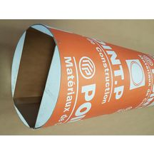 Tube coffrage carton Point.P Polygonal rectangulaire chanfreiné 20x30 cm L 3 m