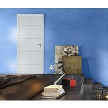 Bloc Porte Alvéolaire Graphik Ketch Prépeint Blanc Avec Huisserie 90