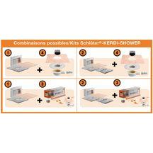 kit d 39 tanch it kerdi shower sk pour douche l 39 italienne 1 2x1 2 m ou 1 5x1 5 m schluter. Black Bedroom Furniture Sets. Home Design Ideas