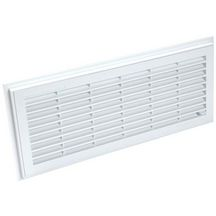 Grille a�ration rectangulaire d�montable � fermeture blanc Nicoll - 152x358 mm