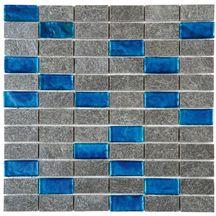 Pierre naturelle bati signatures gris bleu naturel for Carrelage 5x5 bleu