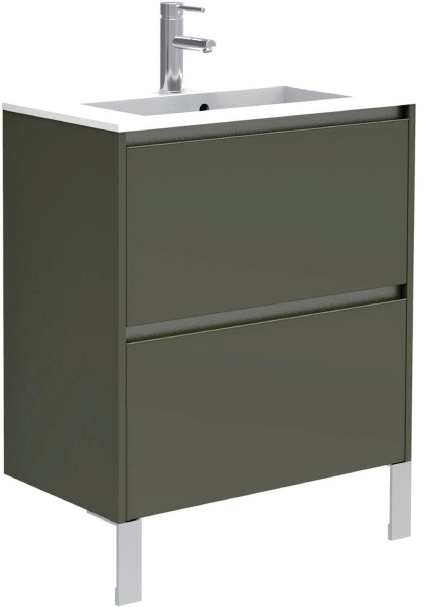 alterna meuble sous vasque plenitude 70 cm 2 tiroirs p38. Black Bedroom Furniture Sets. Home Design Ideas