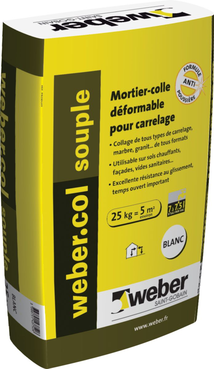 Mortier colle pour carrelage