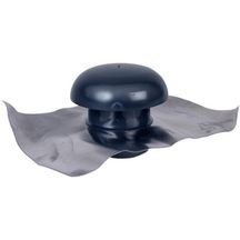 Chapeau de ventilation � collerette d'�tanch�it� Nicoll CD12 45x33 diam�tre 125 mm ardoise