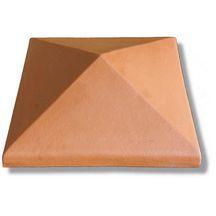 chapeau de pilier pointe de diamant terre cuite rouge 42x42 cm briqueterie bouisset. Black Bedroom Furniture Sets. Home Design Ideas