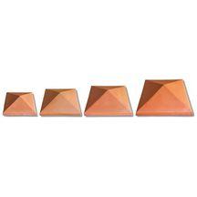 Chapeau De Pilier Pointe De Diamant Terre Cuite Rouge 30x30 Cm