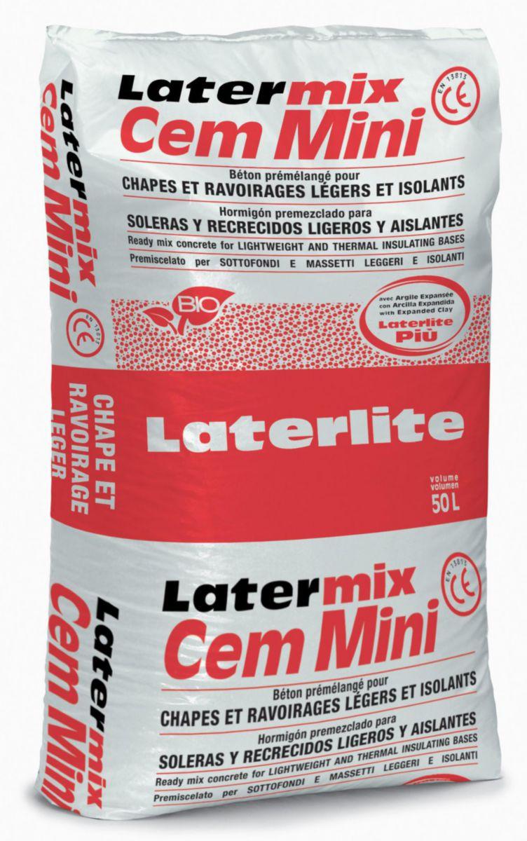 laterlite latermix cem mini b ton l ger sac de 50 litres. Black Bedroom Furniture Sets. Home Design Ideas