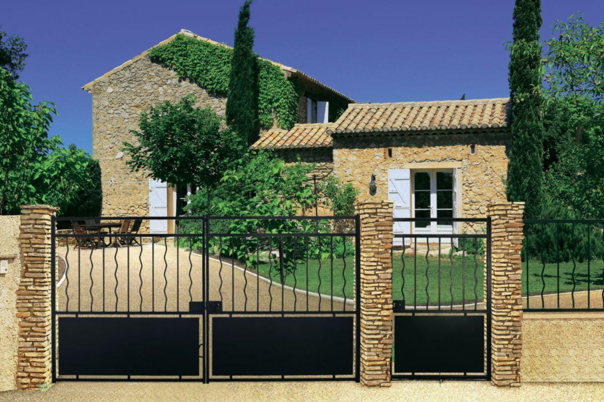 roy ets st piat portail acier fabulite l 3 0 m h 1 6 m. Black Bedroom Furniture Sets. Home Design Ideas