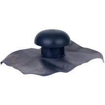Chapeau ventilation � collerette d'�tanch�it� 45x33 mm incorpor�e gris ardoise CD11 Nicoll - � 110 mm