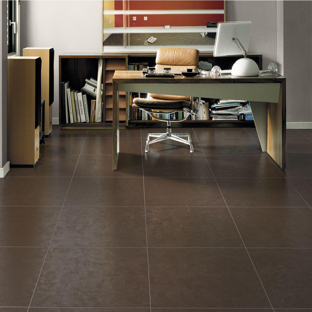 KERABEN - Carrelage sol intérieur grès cérame Living marron - 60x60 ...