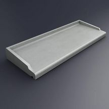 appui de fen tre nez arrondi ton gris weser 170x35x6 cm. Black Bedroom Furniture Sets. Home Design Ideas