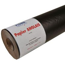 rouleau papier anglais kraft avec rev tement de poly thyl ne noir mat largeur 1m longueur 100m. Black Bedroom Furniture Sets. Home Design Ideas