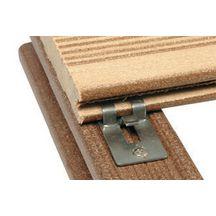 attache de fixation clip terrasse bois composite forexia avec vis inox silvadec sachet 30. Black Bedroom Furniture Sets. Home Design Ideas