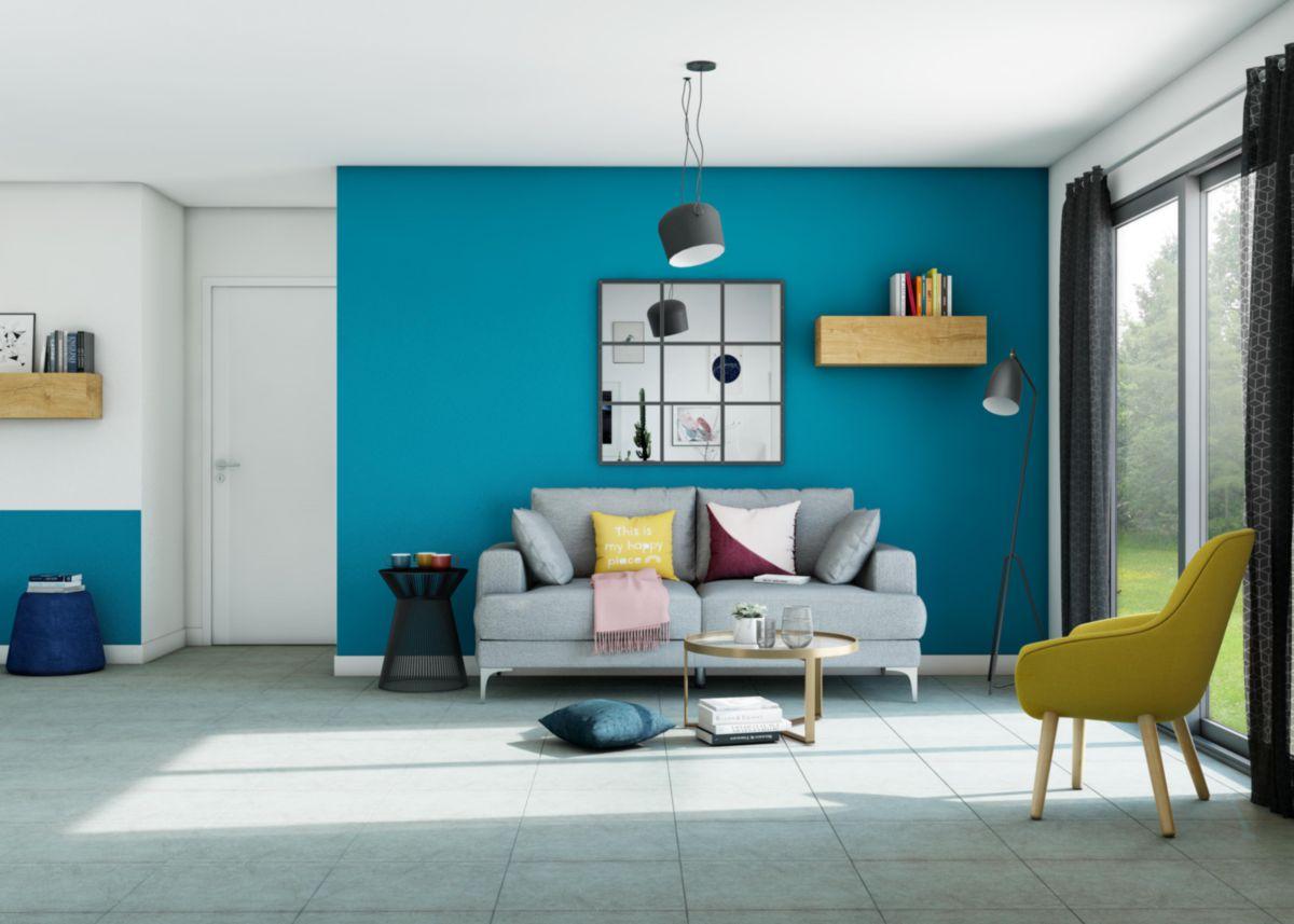 Carrelage Sol Interieur Beton Chiara Gris Clair Naturel 45x45 Cm