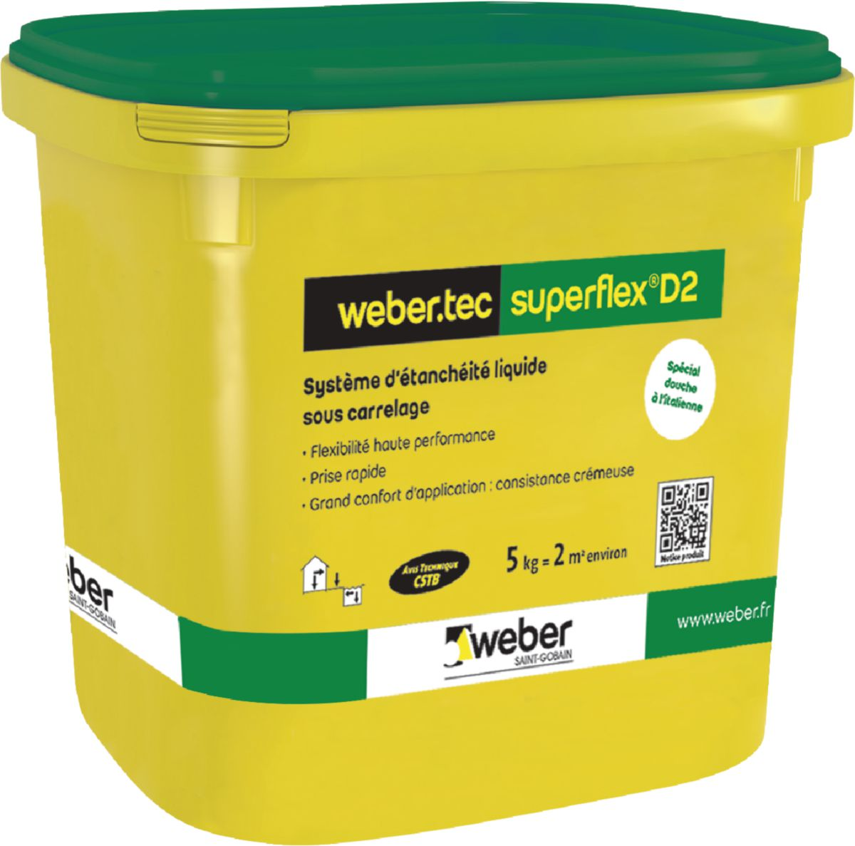 mortier dtanchit liquide sous carrelage webertec superflex d2 weber gris kit 24 kg weber dcoration intrieure distributeur de matriaux de
