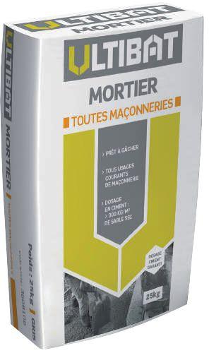 Mortier M20 Toutes Maçonneries Sac 25 Kg