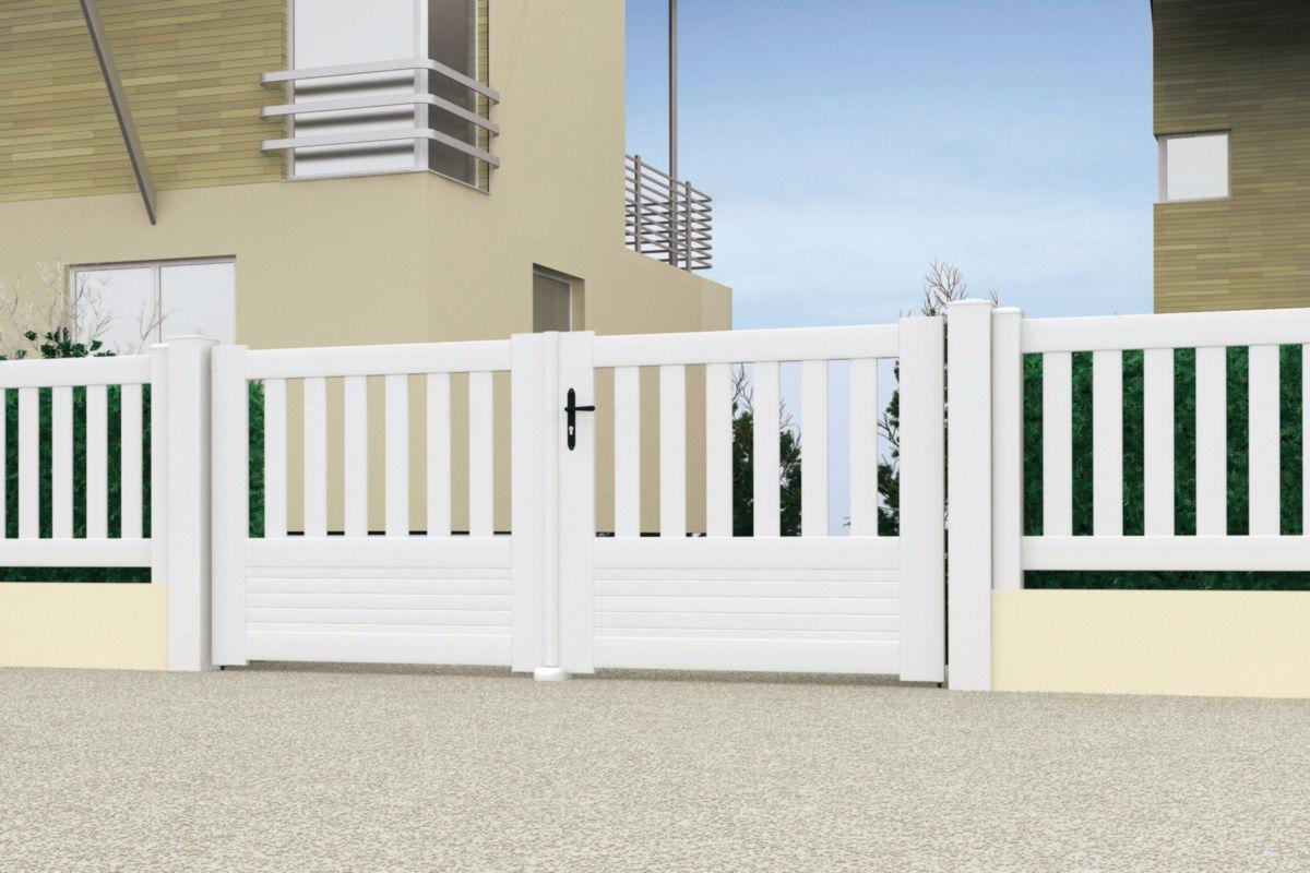 jardimat portail pvc battant ramatuelle jardimat blanc h. Black Bedroom Furniture Sets. Home Design Ideas