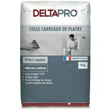 Colle carreau de pl tre sac de 25 kg deltapro pl tre - Colle carreau de platre ...