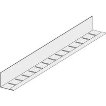 corni re de rive cintrable pour profils t15 t24 acier rev tu pvc blanc l 2 44 m 24x19 mm. Black Bedroom Furniture Sets. Home Design Ideas