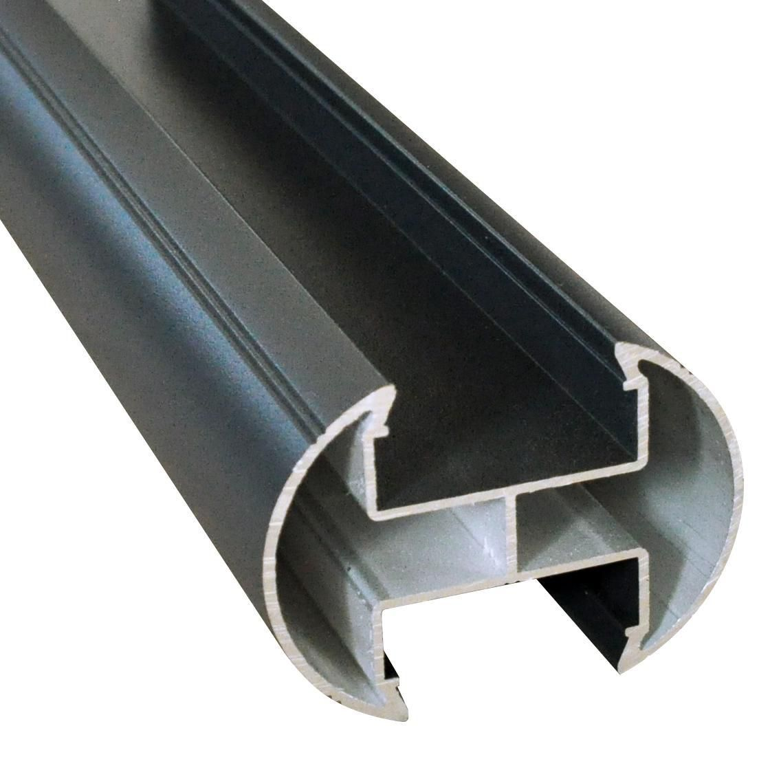 Protac poteau de cl ture aluminium preserve lames profil aztek gris anthracite h 2 50 m for Cloture alu gris anthracite