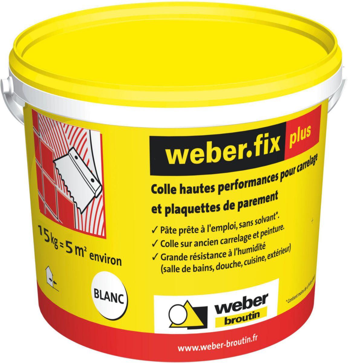 WEBER - Colle carrelage mur intérieur Weber.fix plus - blanc