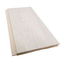 Lambris épicéa du Nord 14% grain d'orge A2 W-2393 blanc intense rainé en bout + chanfrein 13,5x110x2350 DECORPLAN11 FAS02 Réf. 2074324