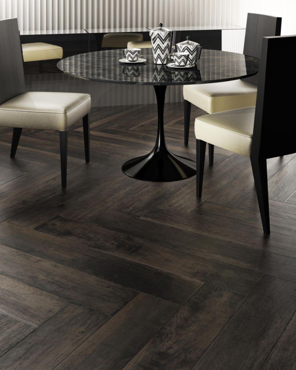 DEL CONCA - Carrelage sol intérieur grès cérame Vignoni Wood - noir ...