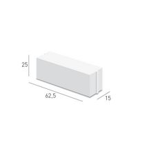 Carreau b�ton cellulaire � profil � embo�tement Caropro CXE 25 Ytong - 625x150x250 mm
