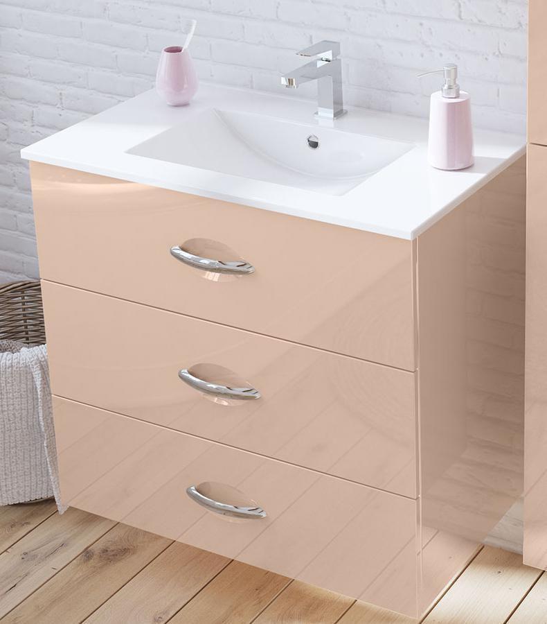 Decotec Meuble Bas 3 Tiroirs Pour Vasque Bento L 100 Cm H 75