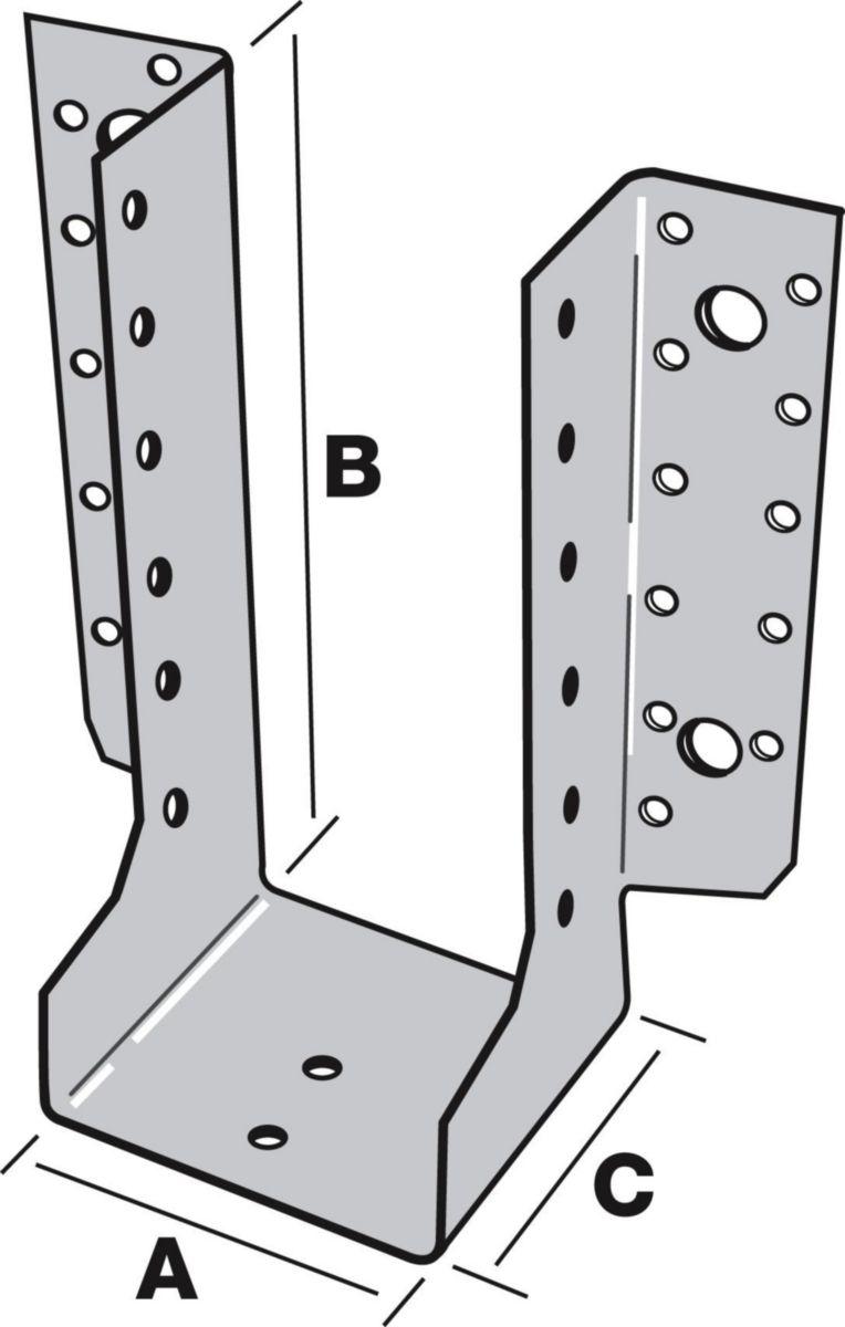 Simpson Strong Tie Sabot A Ailes Exterieures T440 120x160mm Epaisseur 2mm Sael440 120 2 Point P
