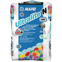 Mortier colle Mapei Ultralite N gris 15kg 1195315