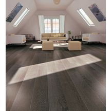Parquet bambou massif aspect bois Bamboo Solida - Granite Grey - 14x135x1830 mm
