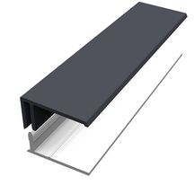 Bordure U PRO clipsable anthracite longueur 3m