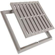 grille de sol pvc avec cadre gris 300x300 mm nicoll. Black Bedroom Furniture Sets. Home Design Ideas