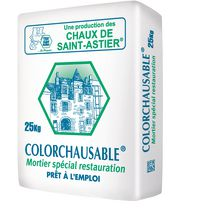 Mortier de restauration COLORCHAUSABLE TF teinte n°29 brun clair sac de 25kg