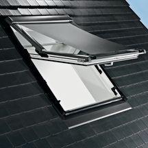 store ext rieur pare soleil manuel screen zar m pour fen tre de toit r4 r7 gris l 74 cm h 98. Black Bedroom Furniture Sets. Home Design Ideas